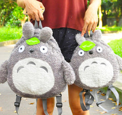 Kawaii Fluffy Plush Totoro Backpack Shoulder Bag
