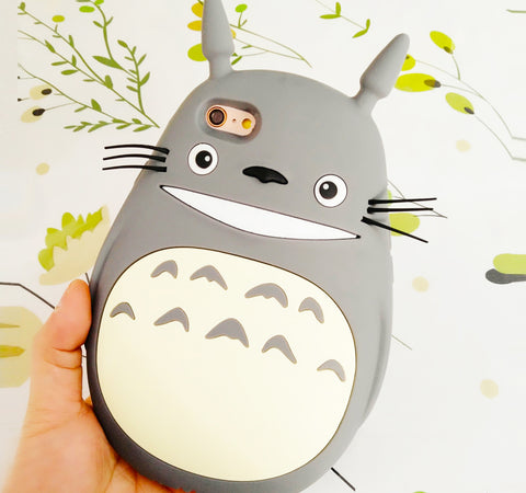 Kawaii Totoro Rubber Silicone Phone Case For Iphone