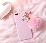 Sweet Pink Unicorn Delicate Phone Case For Iphone