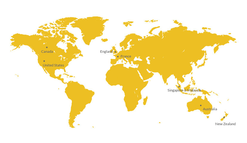 World Wide Distributors Map