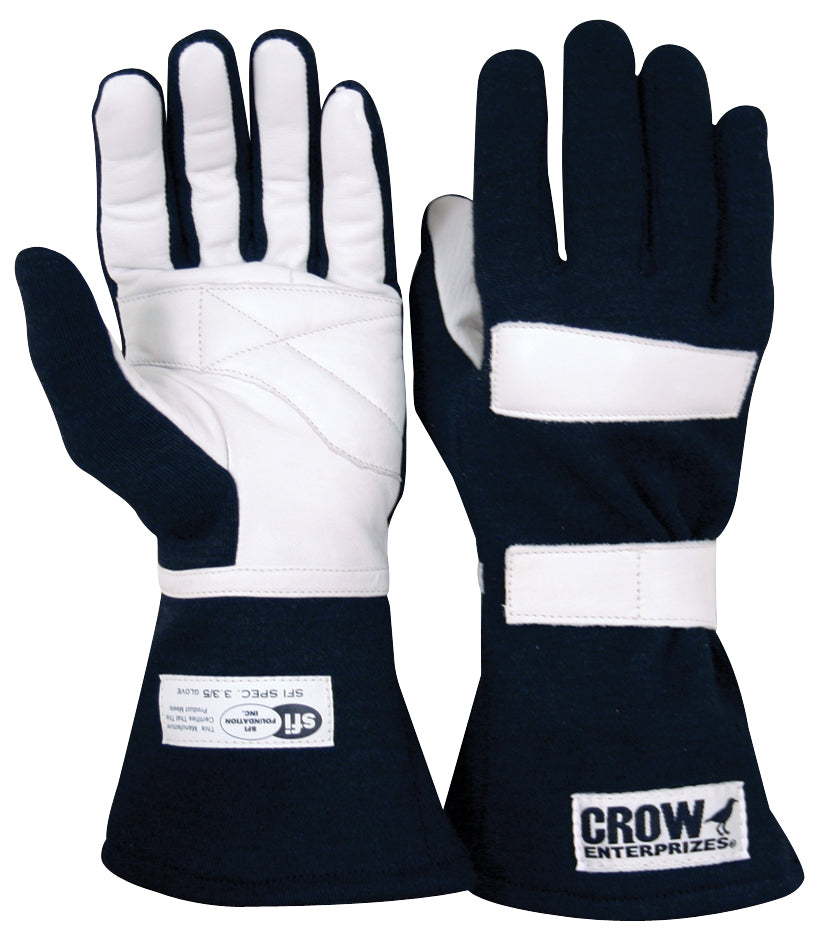 Racing Gloves Junior Standard Nomex Racing Gloves SFI-35 Large Black Only Crow Safety - Skinny Pedal Racing