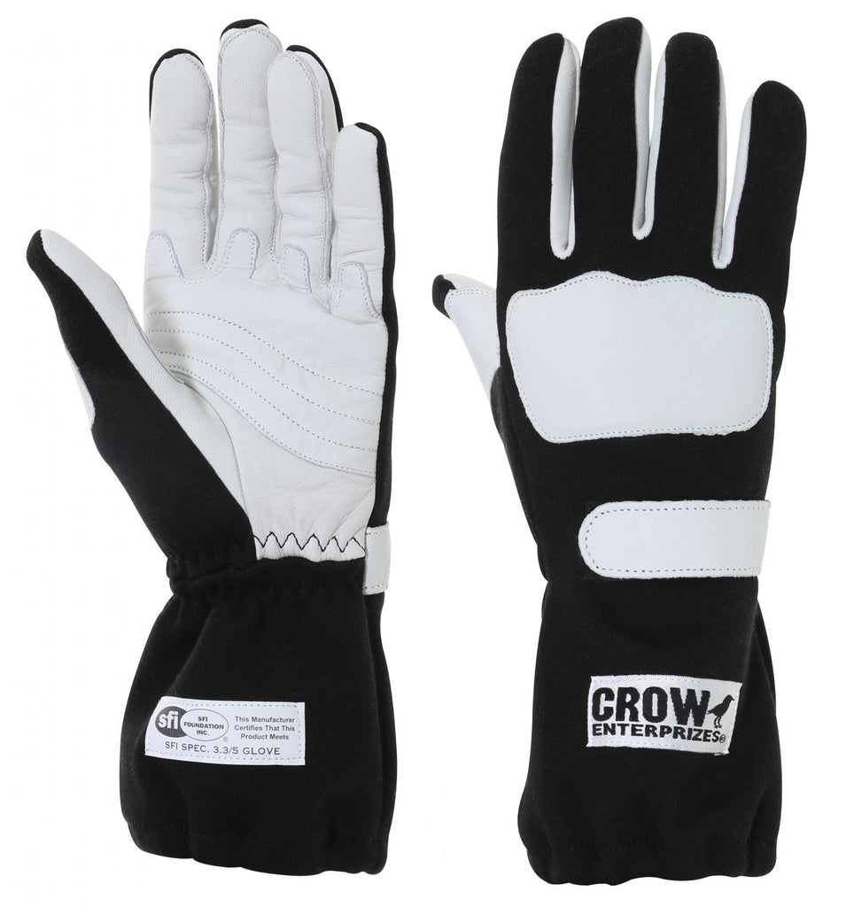 Racing Gloves Wings Nomex Racing Gloves SFI-3.5 Black Only Extra Large 2 Layer Nomex Gloves Crow Safety - Skinny Pedal Racing