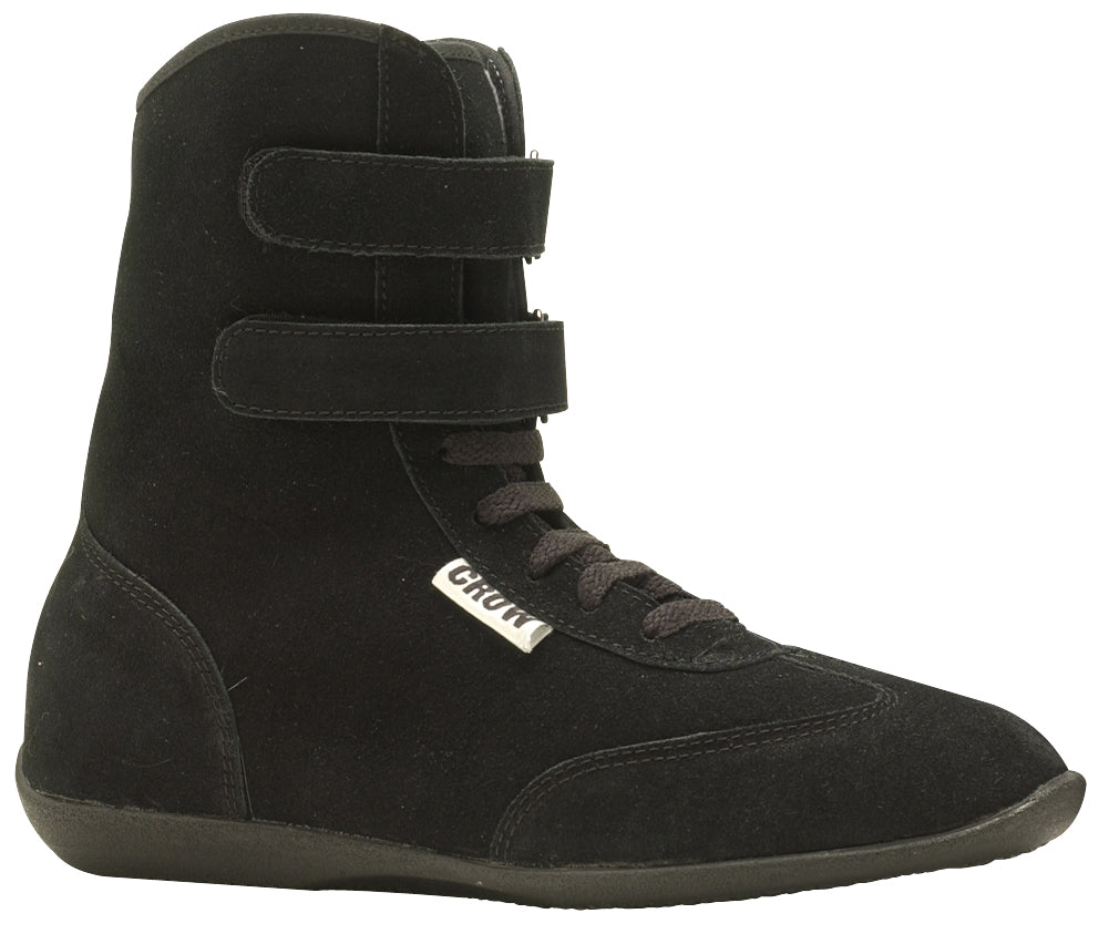 Racing Shoes High-Top Suede Racing Shoes SFI-3-3.5 Size 9.5 Black Crow Safety - Skinny Pedal Racing
