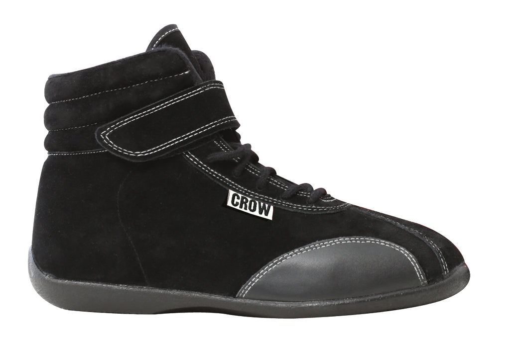 Racing Shoes Child Size 1-2-3 Mid-Top Suede Racing Shoes SFI-3-3.5 10.5 Black Crow Safety - Skinny Pedal Racing