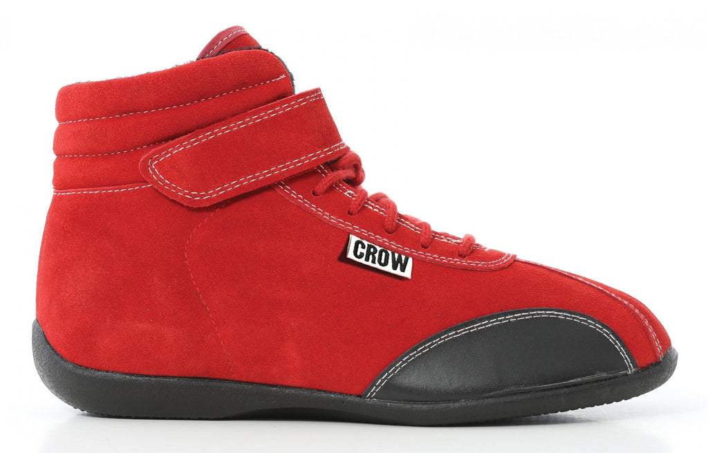Racing Shoes Child Size 1-2-3 Mid-Top Suede Racing Shoes SFI-3-3.5 Size 8 Red Crow Safety - Skinny Pedal Racing