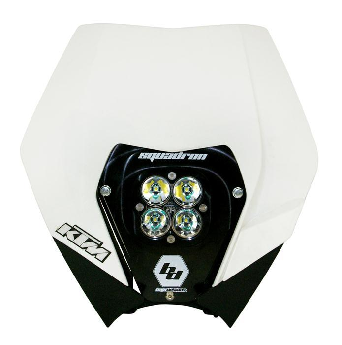 KTM 08-13 Complete LED Kit W/ Head Shell White Squadron Pro Baja Designs