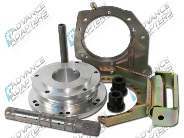 50-2905 : Ford C4 3 speed automatic transmission to the Atlas 2 & 4 speed transfer case, heavy duty adapter kit
