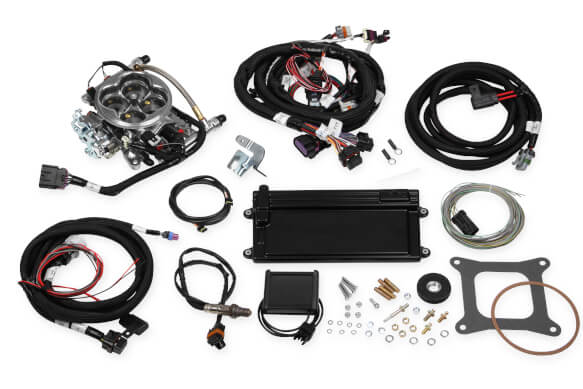 Holley Terminator LS TBI Kit - Polished w/ Transmission Control PART# 550-421
