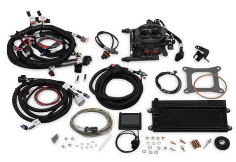 Holley Terminator LS TBI Kit - Polished w/ Transmission Control PART# 550-425