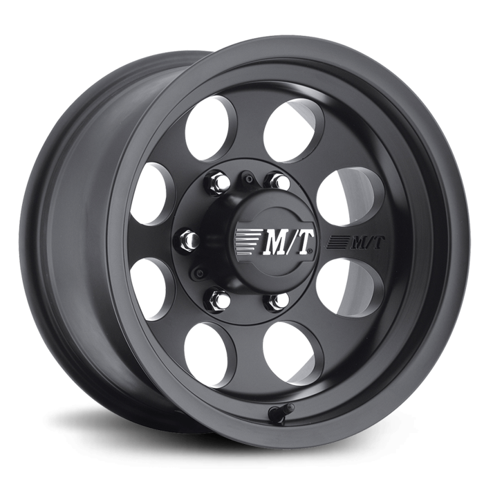 Classic III 16X8 with 8X6.50 Bolt Pattern 4.000 Back Space Satin Black - Skinny Pedal Racing