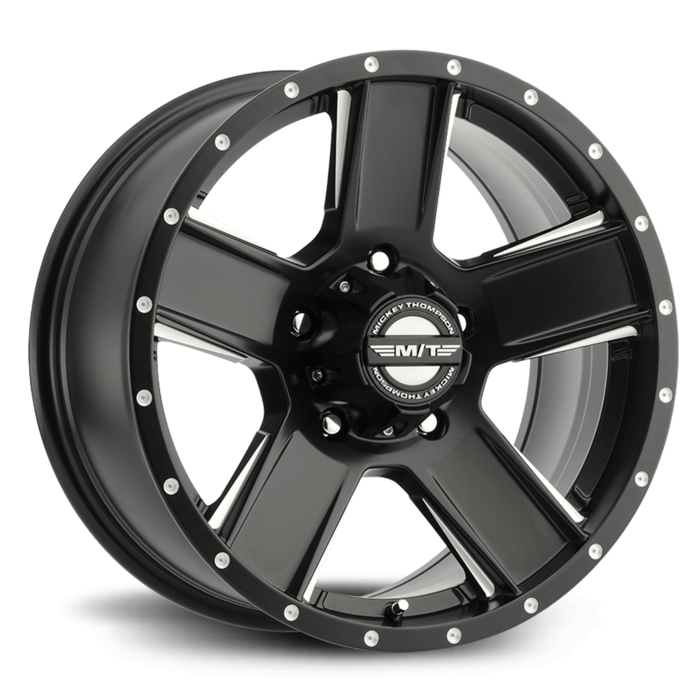 SD-5 Black 20X9 with 8X180 Bolt Pattern 5.50 Back Space Matte Black