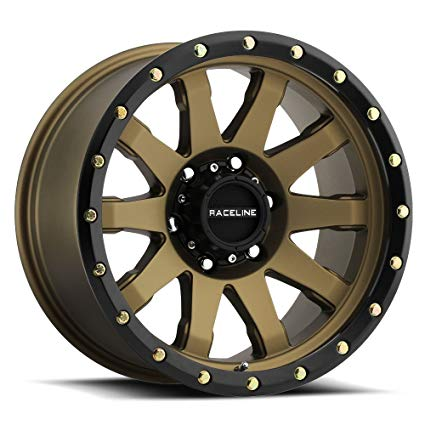 Raceline Wheels Clutch, 20x10 with 8x6.5 Bolt Pattern - Satin Bronze - 934BZ-21080-19