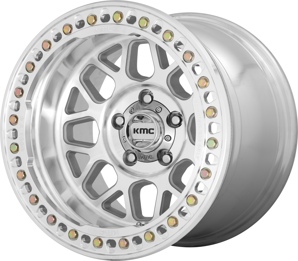 KMC KM235 Grenade Crawl Wheel, 20x10 with 8 on 6.5 Bolt Pattern - Machined - KM23521080548N