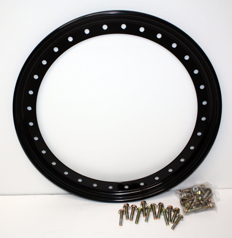 "Raceline Steel Ring 32 Holes System - Black 17"" (RBL17-OUTERBLK-32)"