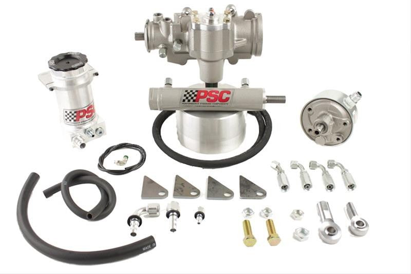 Cylinder Assist Steering Kit, 1970-79 Jeep CJ with Factory Power Steering PSC Performance Steering Components - Skinny Pedal Racing