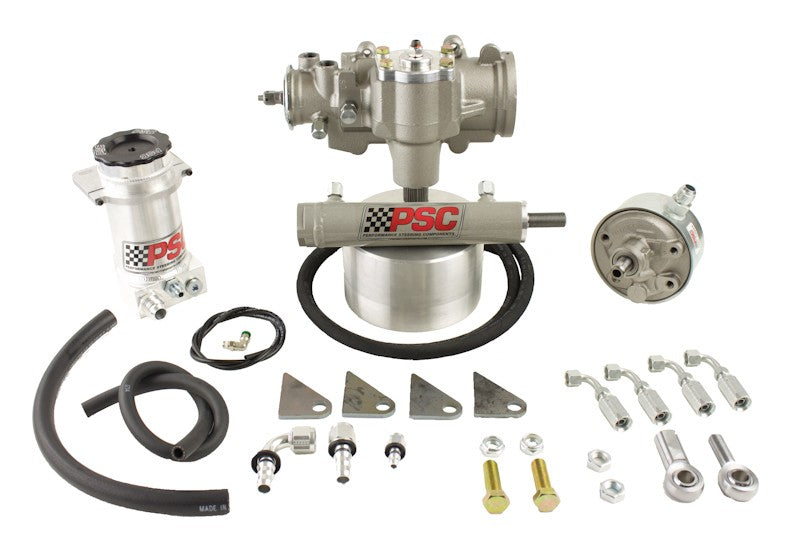 Cylinder Assist Steering Kit, 1987-89 Jeep YJ (32-38 Inch Tire Size) PSC Performance Steering Components - Skinny Pedal Racing