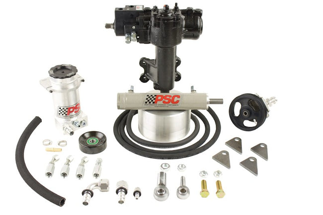 Cylinder Assist Steering Kit, 2007-11 Jeep JK 2 Door 3.8L EGH Aftermarket D60 Axle PSC Performance Steering Components