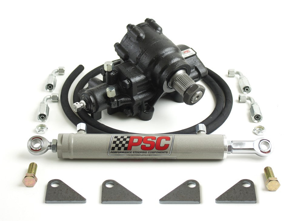 Cylinder Assist Steering Kit, 2005-9/2007 Ford F250/350 Super Duty PSC Performance Steering Components - Skinny Pedal Racing