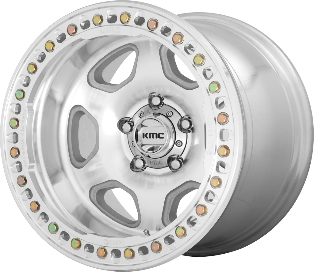 KMC KM233 Hex Wheel, 20x10 with 5 on 5 Bolt Pattern - Machined - KM23321050548N - Skinny Pedal Racing