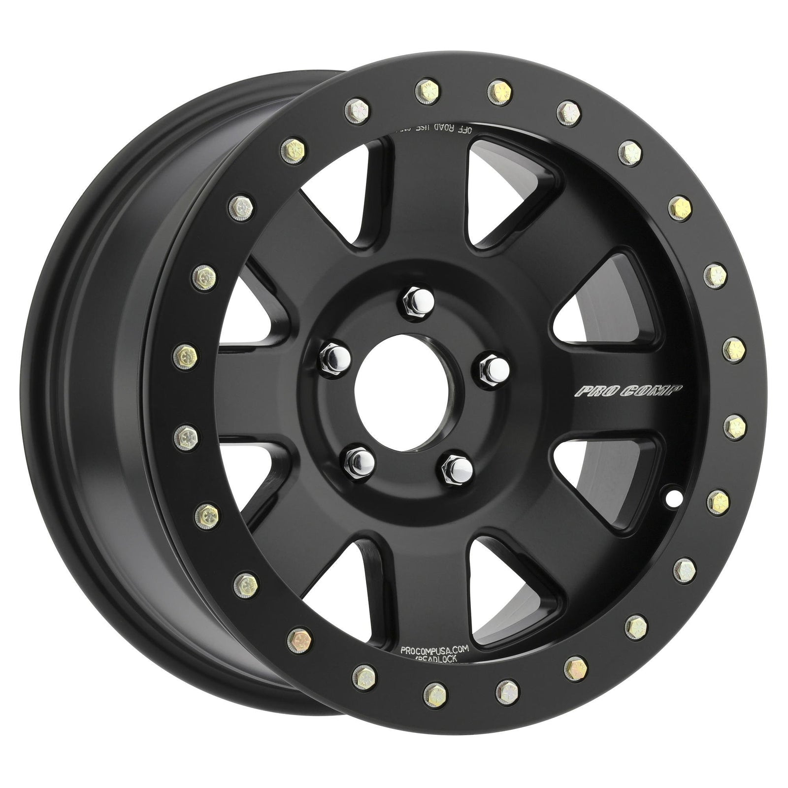 Pro Comp 75 Series Trilogy Race, 17x9 Wheel with 6x6.5 Bolt Pattern - Satin Black - 5175-796647