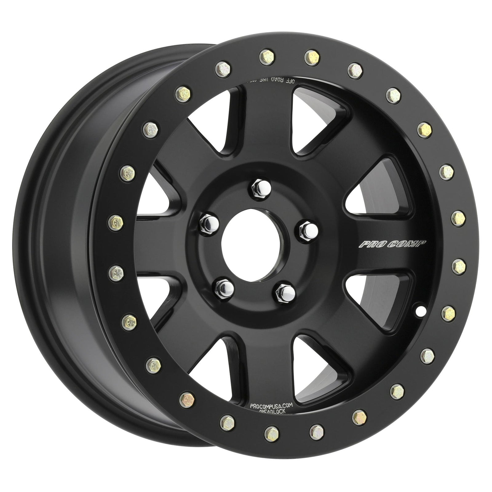 Pro Comp 75 Series Trilogy Race, 17x9 with 5x4.5 Bolt Pattern - Satin Black - 5175-796537