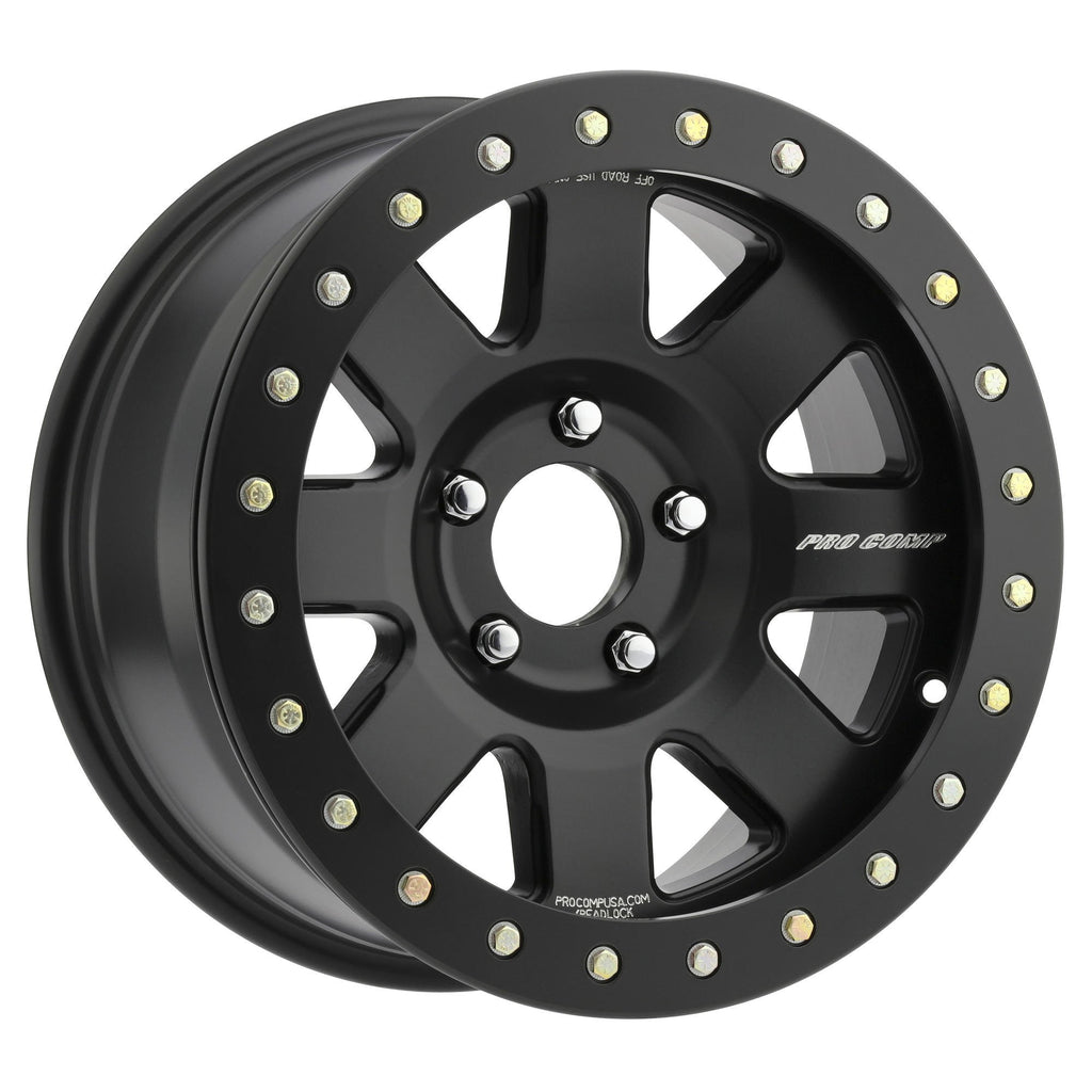 Pro Comp 75 Series Trilogy Race, 17x9 with 8x6.5 Bolt Pattern - Satin Black - 5175-798247