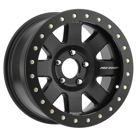 Pro Comp 75 Series Trilogy Race, 17x9 with 5x5 Bolt Pattern - Satin Black - 5175-797337