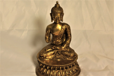 Artisan-Crafted Bronze Buddha