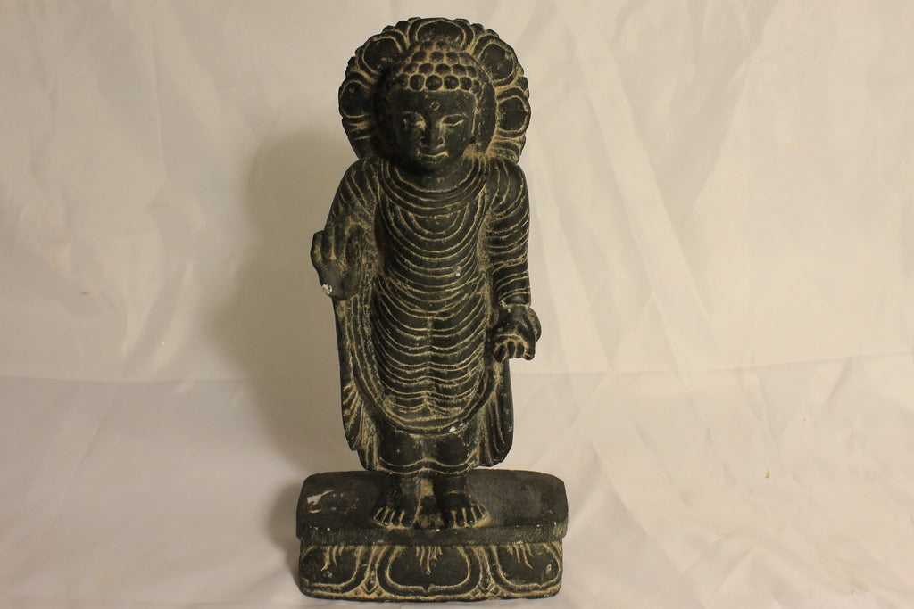 Artisan-Crafted Hand-Carved Stone Buddha