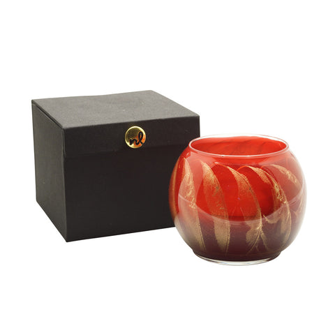 "Esque Cranberry 4"" Artisan Candle in Silk-Lined Box"