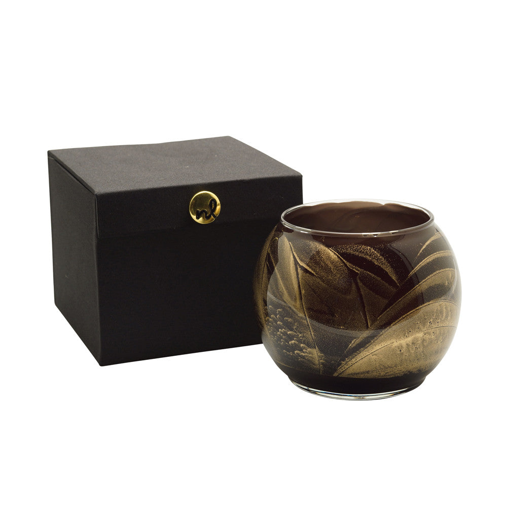 "Esque Ebony 4"" Artisan Candle in Silk-Lined Box"
