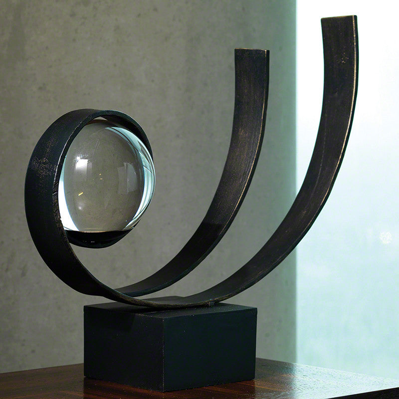 Enveloped Sphere Tabletop Sculpture