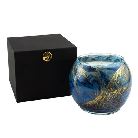 "Esque SLE Midnight 4"" Artisan Candle in Silk-Lined Box"
