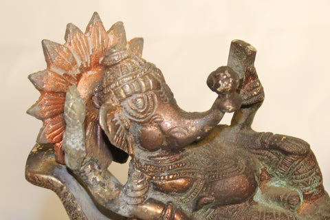 Artisan-Crafted Bronze Ganesha