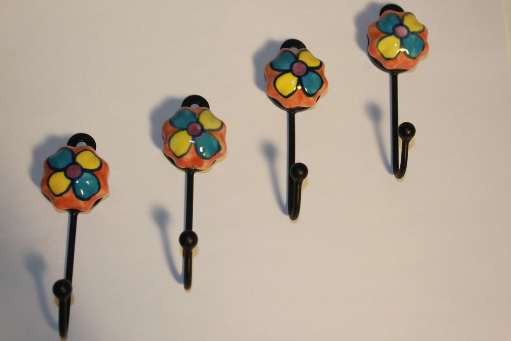 "Artisan Crafted ""Blue Pottery"" Button Hooks"