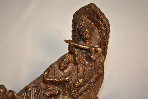 Artisan-Crafted Bronze Krishna
