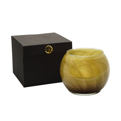 "Esque Olive 4"" Artisan Candle in Silk-Lined Box"
