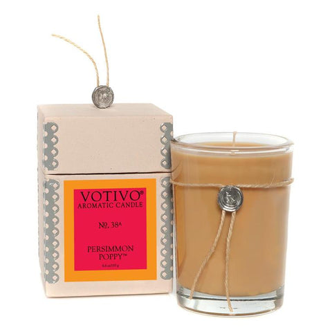 Persimmon Poppy Jar Candle