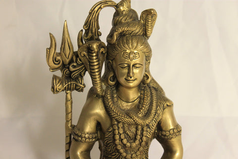 Artisan-Crafted Bronze Shiva