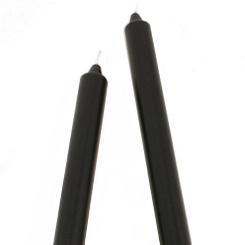 "9"" Smooth Arista Candle-Black"
