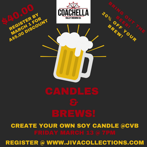 Candles & Brews @ Coachella Valley Brewing Co.