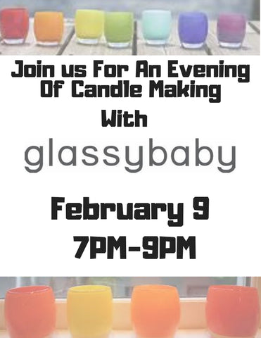 glassybaby candle crafting event