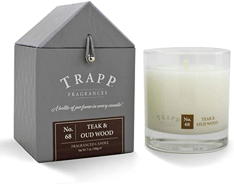 Teak and oud wood candle