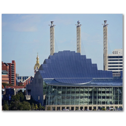 Premium Canvas Gallery Wrap: Kauffman Center (8x10)