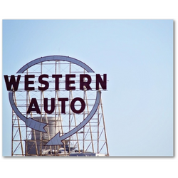 Premium Canvas Gallery Wrap: Kansas City's Western Auto sign (8x10)
