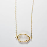 Dainty Crystal and Gold Necklace