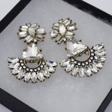 Luxe crystal drop earrings
