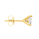 Natural Diamond Stud Earrings in Yellow Gold - 1/3ct (April)