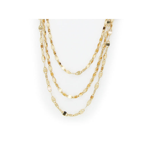 18k Gold Plated Silver Triple Layer Italian Chain, 36