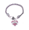 Crystal Heart Medical Alert Diabetic Bracelet